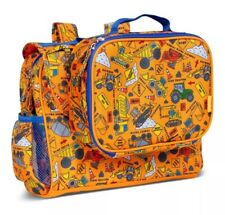 Bixbee Backpack Lunchbox Kids Back Pack Lunch Box Shoulder Bag Tractor Machines