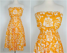 Vintage 1980s Sunny Yellow Strapless Sundress Byer Too! Women's Size 7 Bust 34