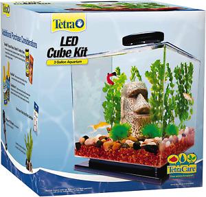 Tetra LED Cube Kit for Aquarium Kit Fish Tank, Lighting and Filtration 3 Gal