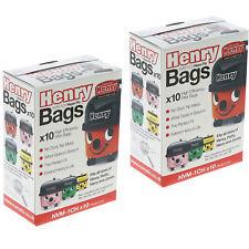 20 Genuine Numatic NVM-1CH Vacuum 604015 Bags Henry XTRA HVX200a HVX-200 Hoover