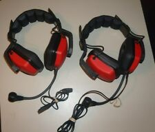2 EARTEC DUAL SIDED WIRED WITH MICROPHONE HEADSET Excellent