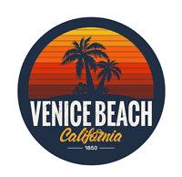 STICKER SURF SURFING VENISE BEACH CALIFORNIA VINTAGE RETRO AUTOCOLLANT VA206