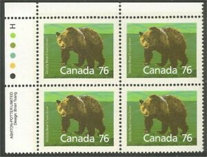 Canada 1178 Grizzli Bear UL plate block MNH **