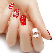 Santa Christmas color real nail polish strips Kcf408 street art wraps