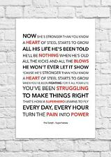 The Script - Superheroes - Song Lyric Art Poster - A4 Size