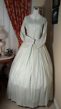 Civil War Reenactment Day Dress Size 14 Light Summer Stripe