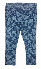 Mantaray Baby Girl Leggings Trousers Blue Floral 18-24 Months