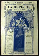 """Revue """"La Dépêche Dans la Famille"""" 10 Décembre 1901. 120 Gravures"""