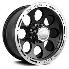 "18"" x9 Black Ion Alloy 174 174B 0 ET 5x5 174-8973B (4) Rims Wheels"