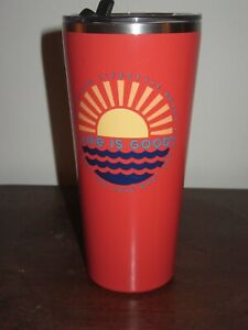 """NWT LIFE IS GOOD STAINLESS STEEL TUMBLER -""""DO WHAT YOU LOVE..LOVE WHAT YOU DO"""""""