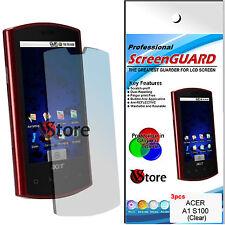 3 Pz Pellicola Proteggi Salva Display LCD Per Acer Liquid A1 S100 Pellicole
