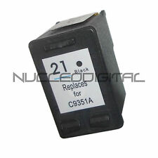 HP 21 Negro Xl Black Para Usar En C9351 C9352 Deskjet F4180 -Remanufacturado-