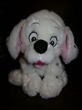 WALT DISNEY 101 DALMATIANS DOG PUPPY STUFFED PLUSH WHITE BLUE COLLAR CUTE 12""
