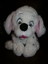"WALT DISNEY 101 DALMATIANS DOG PUPPY STUFFED PLUSH WHITE BLUE COLLAR CUTE 12"""