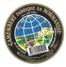 Etiquette de Fromage  Camembert fabriqué en Normandie   No 288