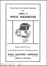 Wico Series A Magneto Service & Instructions Book, Wico Magneto Book