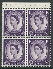 Sb94 Wilding booklet pane Crowns On Cream perf type Ap Unmounted Mnt/Mnh