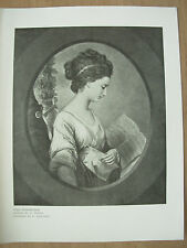 VINTAGE 1912 PRINT - MISS STEPHENSON By W.PETERS