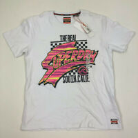 Superdry Mens Graphic Oversize T Shirt South Cali White XL