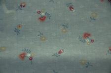 Patchwork coupon tissu coton américain AMERITEX 55 cmx 55 cm Petites fleurs gris