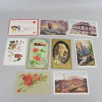 Vintage Mixed Lot of 10 Holidays & Greetings Postcards early 1900s Iowa SET 4
