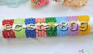 "D0181 4row 8"" 10mm round jasper bead bracelet"