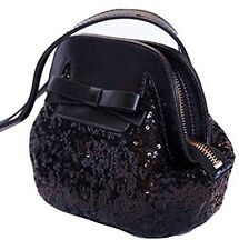 NWT Kate Spade Riva Road Scotty Black Leather Sequins Cross body/Shoulder bag