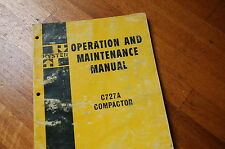 HYSTER C727A Compactor Twin Drum Roller Owner Operator Operation Manual safety