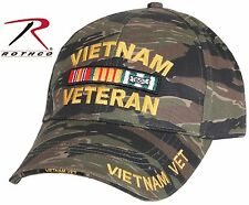 Tiger Stripe Camo VIETNAM VETERAN Adjustable Baseball Hat Rothco Camouflage Cap