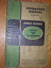 VINTAGE JOHN DEERE  OPERATORS  MANUAL- MODEL  H SPREADER