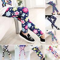 Joli enfants filles Leggings fleur papillon élastique pantalon 4-12 Ans
