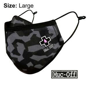 MUC-OFF - REUSABLE FACE MASK - URBAN CAMO - SIZE LARGE -