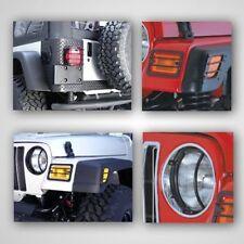 Jeep Wrangler Tj 97-06 Light Guard Kit Black 6 Piece X 12495.02