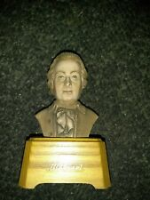 Vintage Mozart Swiss Music Box Bust