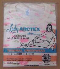 Vintage Women's Lady Thermal Underwear Shirt Floral Print Medium Usa Made 1970's