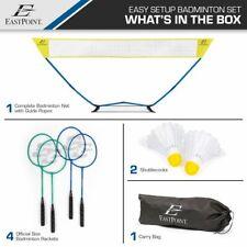 EastPoint Sports Easy Setup Regulation Size Outdoor Badminton Set Yard Game NEW