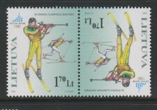 Lithuania - 2006, Winter Olympic Games, Turin stamp - Joined Pair - L/M - SG 873