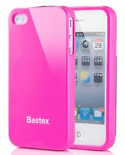 For iPhone 4, 4S Flexible Soft Slim Fit Hot Pink TPU Gel Skin Case Cover