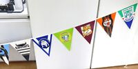 .SUPER RARE 1995 / 1996 OFFICIAL AUSTRALIAN RUGBY LEAGUE 20 TEAM BUNTING BANNER.