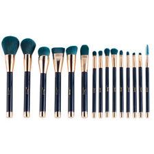 Jessup 15Pcs Makeup Brushes Set Cosmetics Powder Foundation Eyeshadow Darkblue