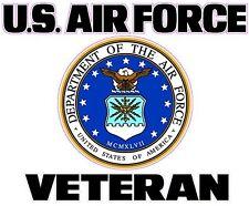 "U.S Air Force Veteran 7"" Decal FREE SHIPPING"