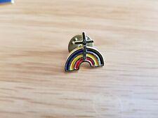 Pin Badge Chruch Cross rainbow  Vintage Rare