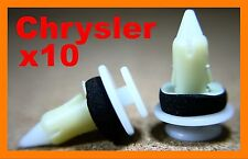10 Chrysler Jeep door card trim fascia panel board lining plastic fastener clips