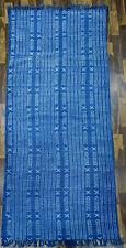 9x12.ft Handmade Indigo Rug Blue Rug Cotton Dari Large Rug Floor Rug Woven Rug