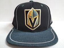 brand new c1145 5f97e Las Vegas Golden Knights Cap adidas Flat Snapback 2018 Official NHL Black  Hat