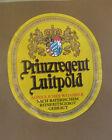 VINTAGE GERMAN BEER LABEL - SCHLOSS PRINZREGENT LUITPOLD YELLOW