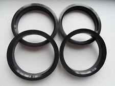 4 Polycarbon Plastics hub centric rings vehicle side 66.6mm to rims side 71.12mm