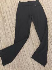 Ibex Knit Merino Wool Pants. Boot Cut, Wm's Small. Black. Zip Pocket, Outdoor.
