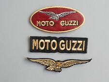 MOTO GUZZI KIT 3 TOPPE PATCH RICAMATE TERMOADESIVE