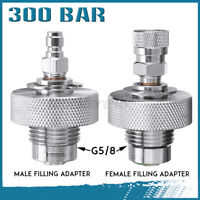 Stainless Steel 300Bar Din Valve Filling Adapter For Paintball Air Gun Air